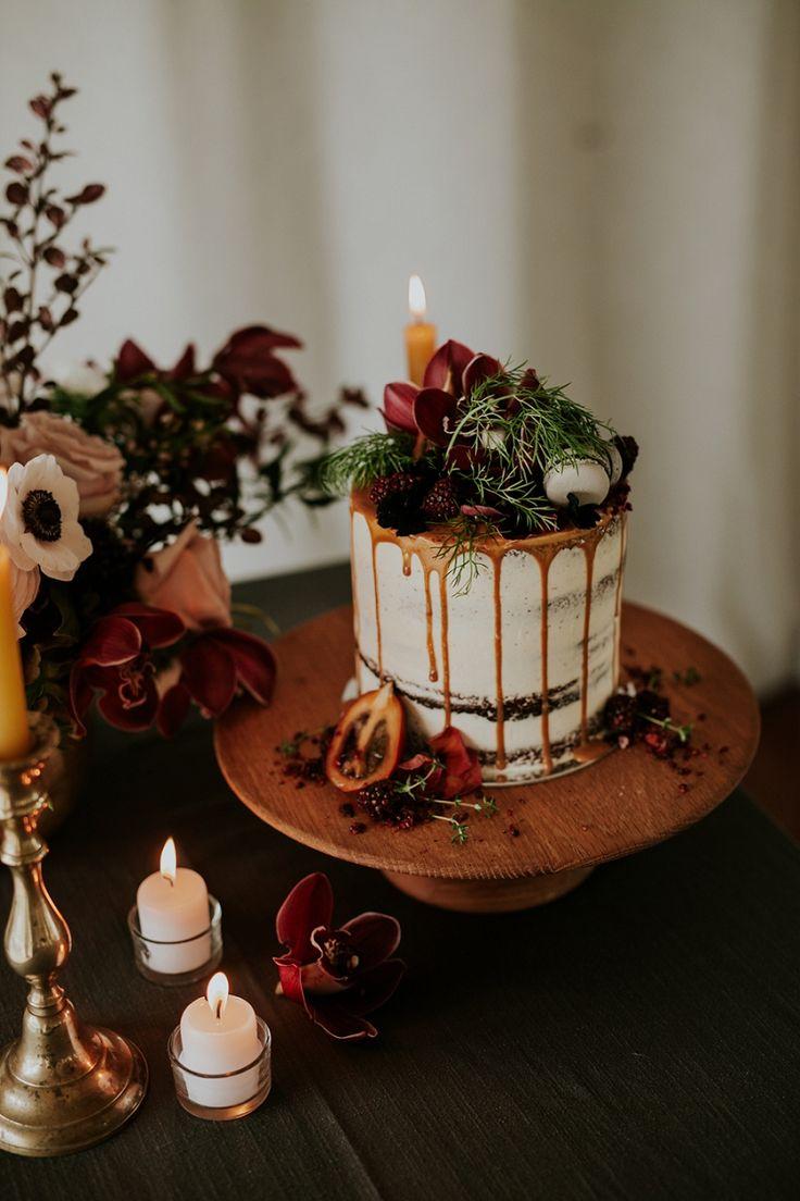1920s romantic modern art deco wedding inspiration new zealand - naked cake