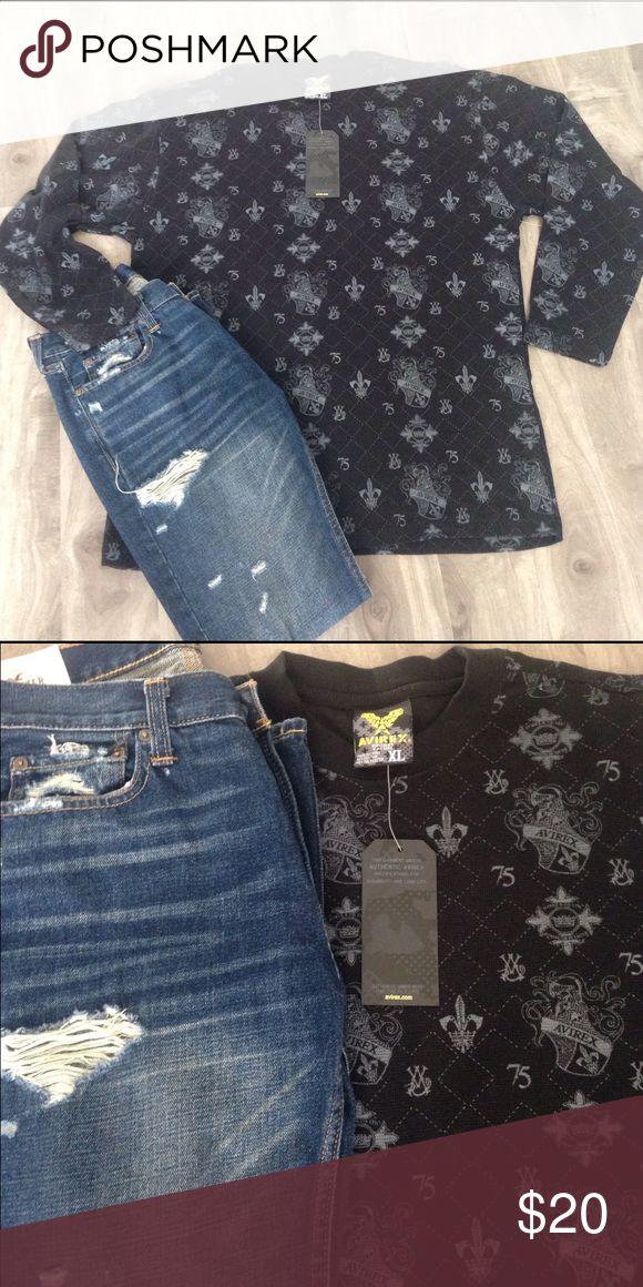 Men's AVIREX long sleeve shirt Men's AVIREX long sleeve shirt, XL. 60%Cotton & 40% Polyester. NWT, ships same day of purchase. avirex Shirts Tees - Long Sleeve