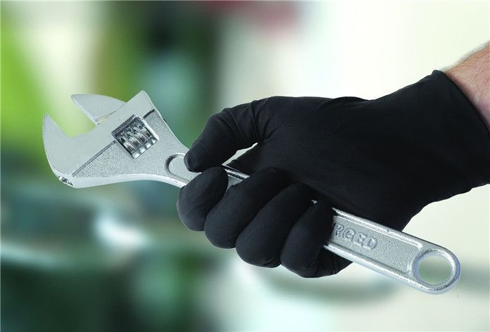 ping NEW 50pcs/Lot Black Nitrile Gloves Disposable Nitrile Oil and Acis Wholesale Industrializationd Latex Glove