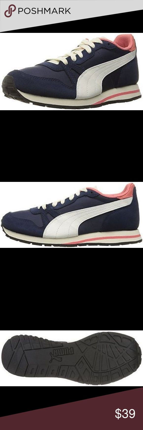 Puma women's Yarra classic shoes size  7.5  ✨ Inspired from the iconic duplex family and the 80s runner codes, the yarra classic features leather/suede and textile materials in the construction of the upper, presenting a lot of choice for those looking to stay stylish!! Puma Shoes Athletic Shoes