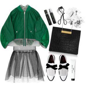 Simone Rochas black tulle skirt