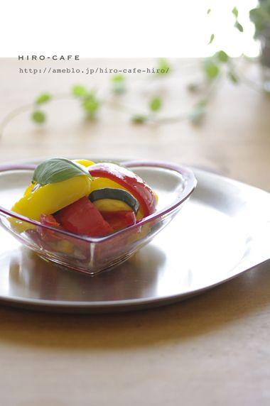 ズッキーニとパプリカのマリネ☆   美肌レシピ