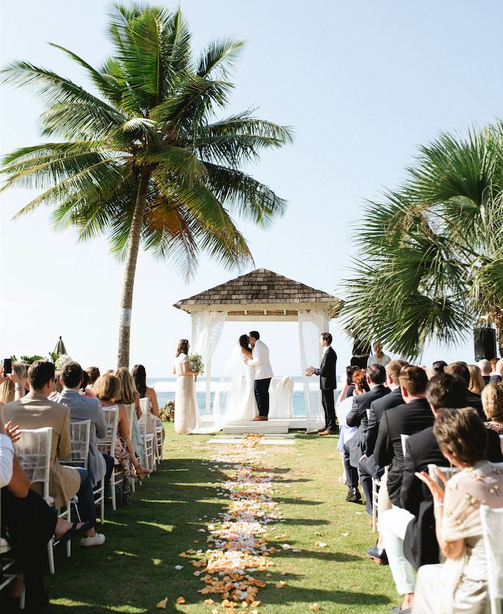 Gorgeous shot of our Villa Montana Beach Resort oceanfront wedding ceremony!