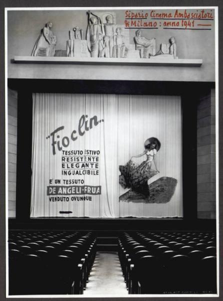 De Angeli Fua - Sipario del Cinema Ambasciatori, Milano, 1941.