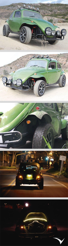El VW Buggy es una reconstrucción artesanal que combina plásticos reforzados, metales y soldadura, tapicería en cuero natural componentes para vehículos especiales, mecánica y un tratamiento especial en pintura de poliuretano. Fotografias: Fabian Virviescas  https://instagram.com/vircorpdesign/