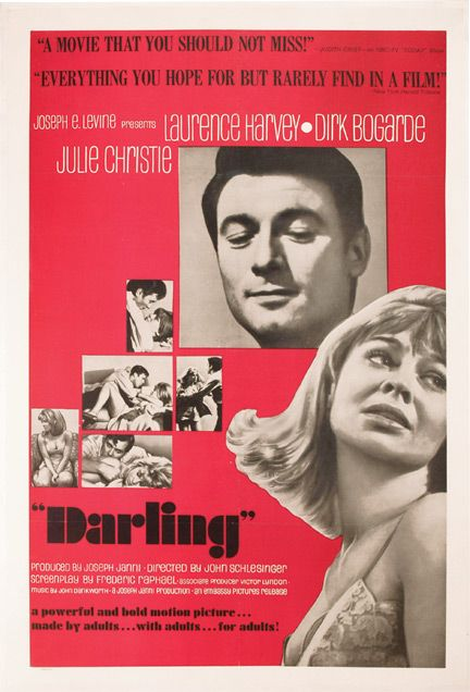 """Darling"" with Julie Christie, Dirk Bogarde, Laurence Harvey."