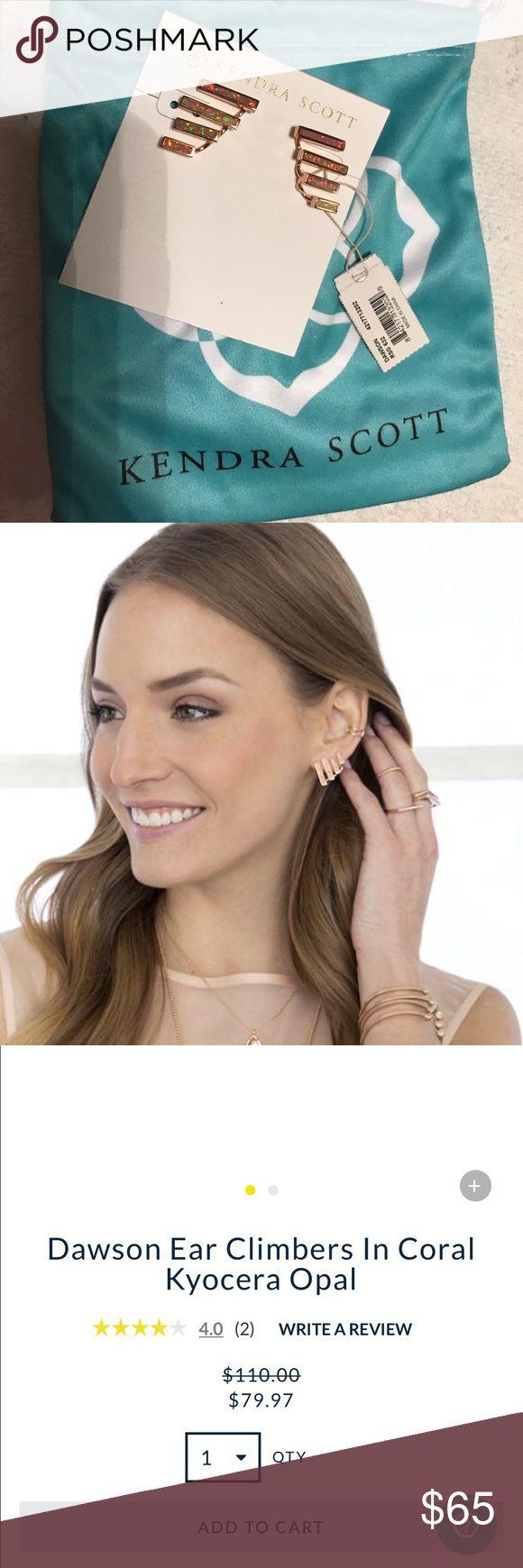 NWT Kendra Scott ear climber earrings Brand new ear climber Kendra Scott earrings! Originally $110 and on sale for $80 on their website Kendra Scott Jewelry Earrings