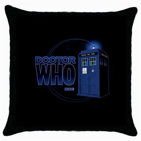 Doctor Who TARDIS Throw Pillow Case 100% Cotton via Greatest Gift