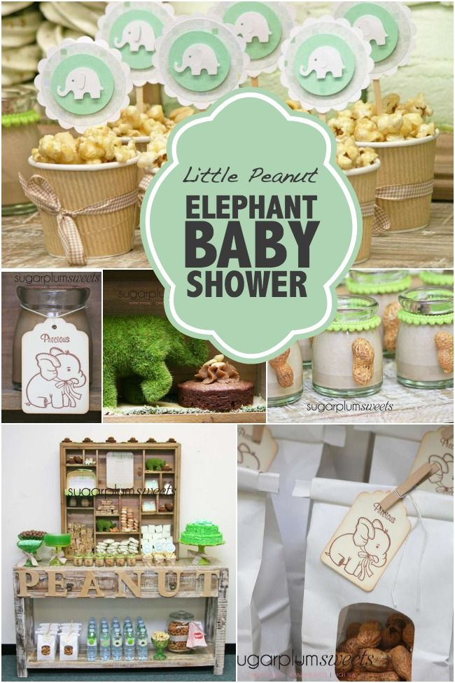 Little Peanut Elephant Baby Shower - Spaceships and Laser Beams