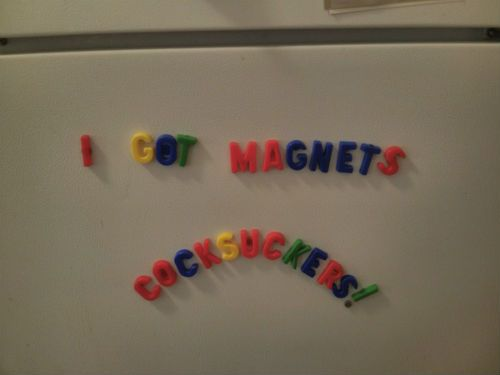 Humorous roommate and flatmate kitchen note - fridge magnets