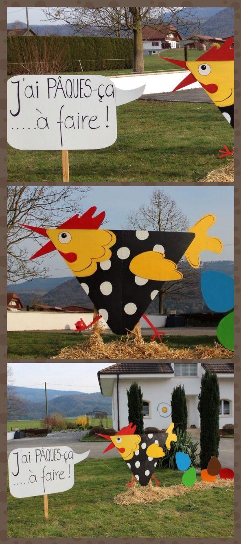 Déco de Pâques...la petite poulette pressée...toute en récup, made by www.pinterest.com/fleurysylvie et www.toutpetitrien.ch #paques #decoration
