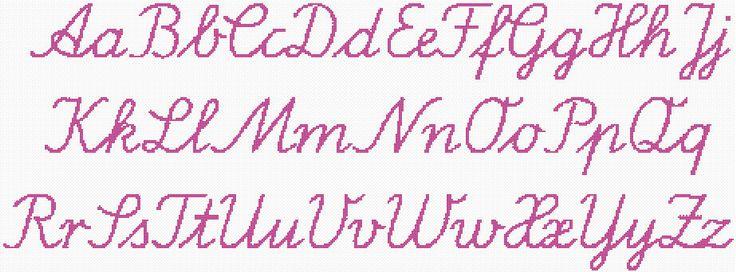 Cross Stitch Alphabet Cursive Cross Stitch Pinterest
