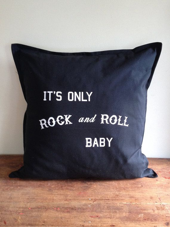 It's Only Rock and Roll Baby Black Cotton by DarkHorseWanderer, $48.00