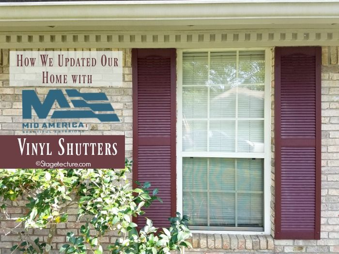 See how I paired with @thetapcogroup Mid-America Shutters to transform our exterior home from the 80's and into the present with their gorgeous vinyl shutters! #AD
