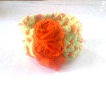 Bracelet Spicy orange by recyclingroom on Etsy, $19.00