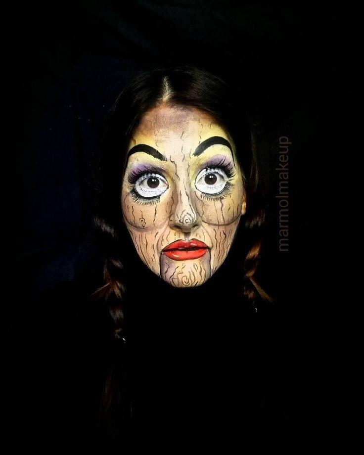 Alibelle #muñeca #doll #ventriloquist #ventriloquo #puppet #marioneta #madera #wood #creepy #miedo #horror #terror #anabelle #facepaint #pintacaras #maquillajeartistico #makeup #maquillaje #bodypaint #caracterizacion #halloween #facepaintersofinstagram #madrid