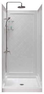 Qwall-5 Shower Backwall Kit contemporary-shower-stalls-and-kits