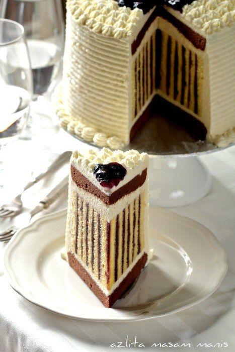 torta de chocolate y crema