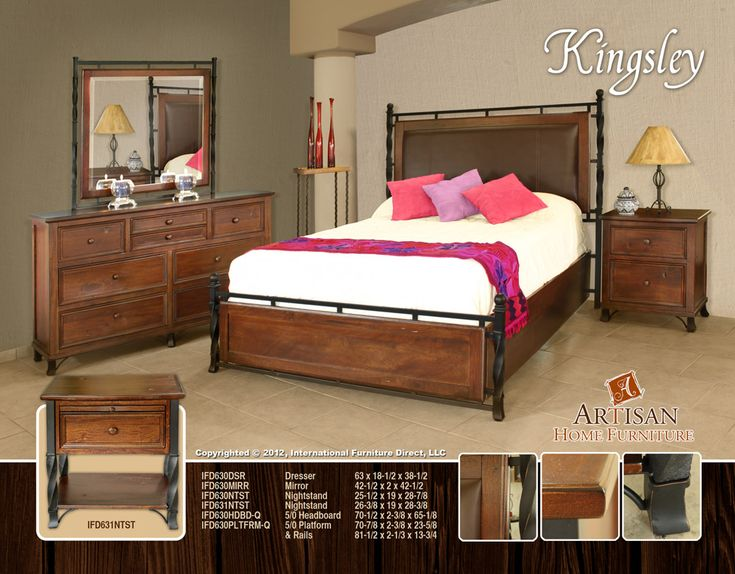 Kingsley Bedroom Collection made from solid Mango Wood