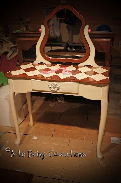 adorable repurposed dressing table