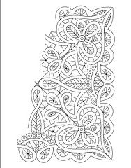 small square doily romanian point lace