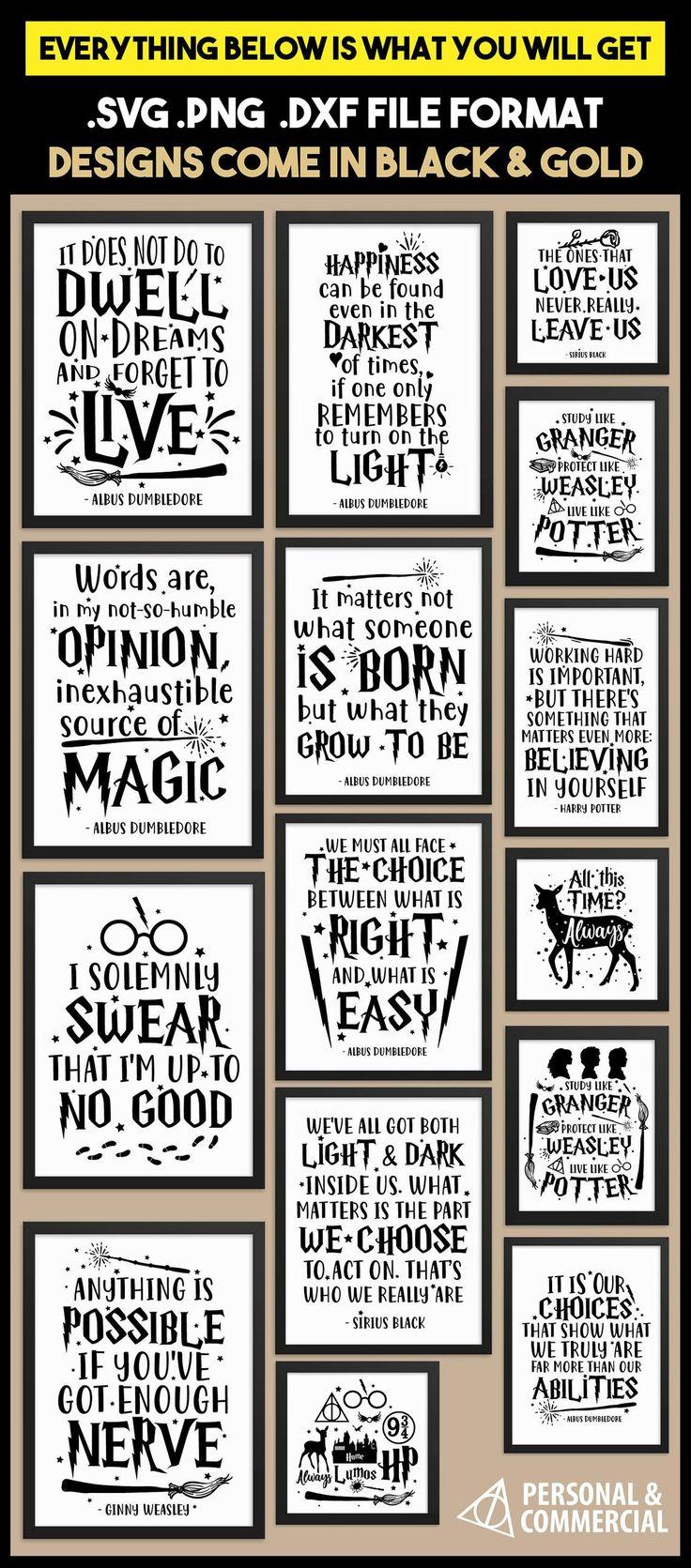 Harry Potter SVG cut files for Cricut Explorer Silhouette   Etsy