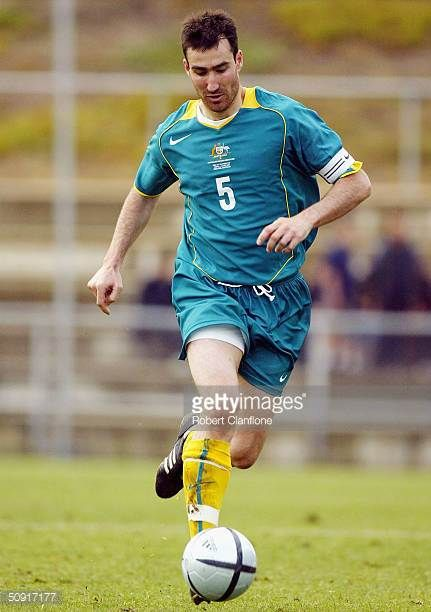 Tony Vidmar of Australia in action during the OFC Nations Cup Tournament between Australia and Fiji at Marden Sports Ground on June 2 2004 in...