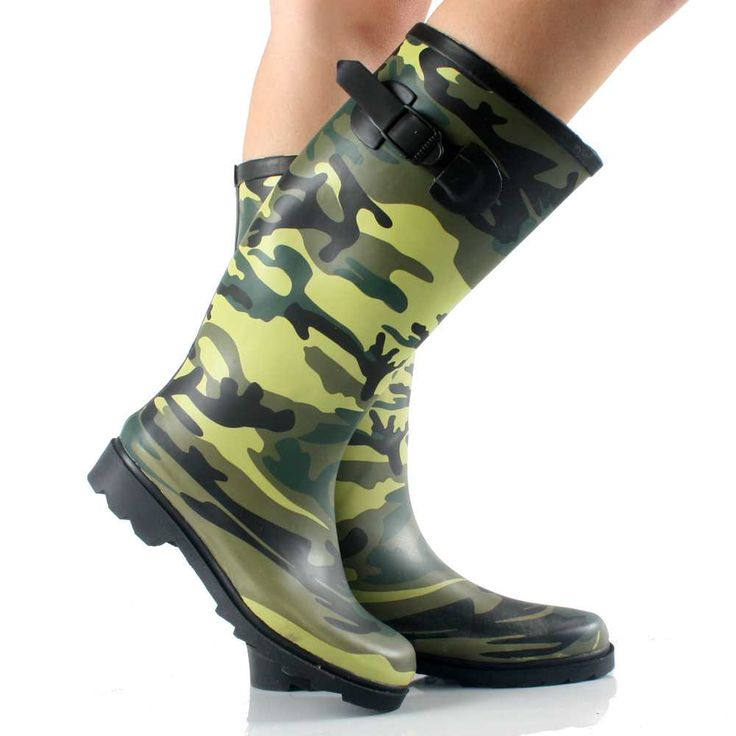 Brilliant These Camo Rain Boots For Women Feature A Rubber Upper And Outsole And A Breathable Lining And, Theyre Fully Waterproof With A Cushioned Sock And Buckle Strap For The Adjustable Shaft JoJo Rain Boots By Old Dominion