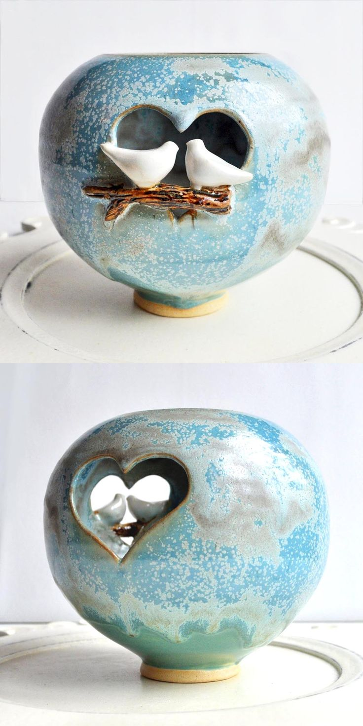 onitsuka tiger berlin love birds luminary from Lee Wolfe Pottery