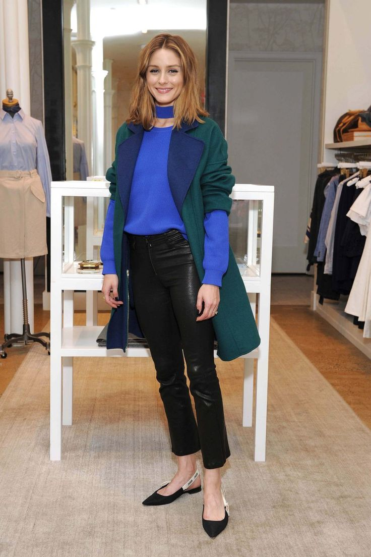 Olivia Palermo spotted in NYC wearing the Carine Pant.