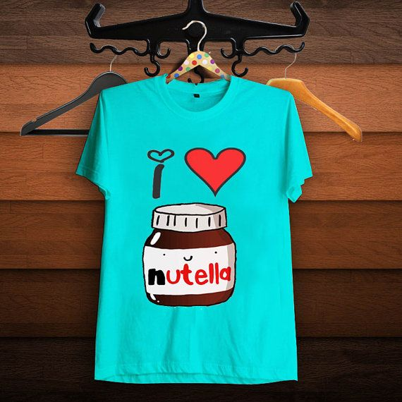 I Heart Nutella T Shirt Women T Shirt by SuzanTee on Etsy ...