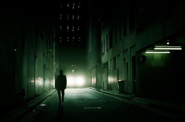 Streets at night.