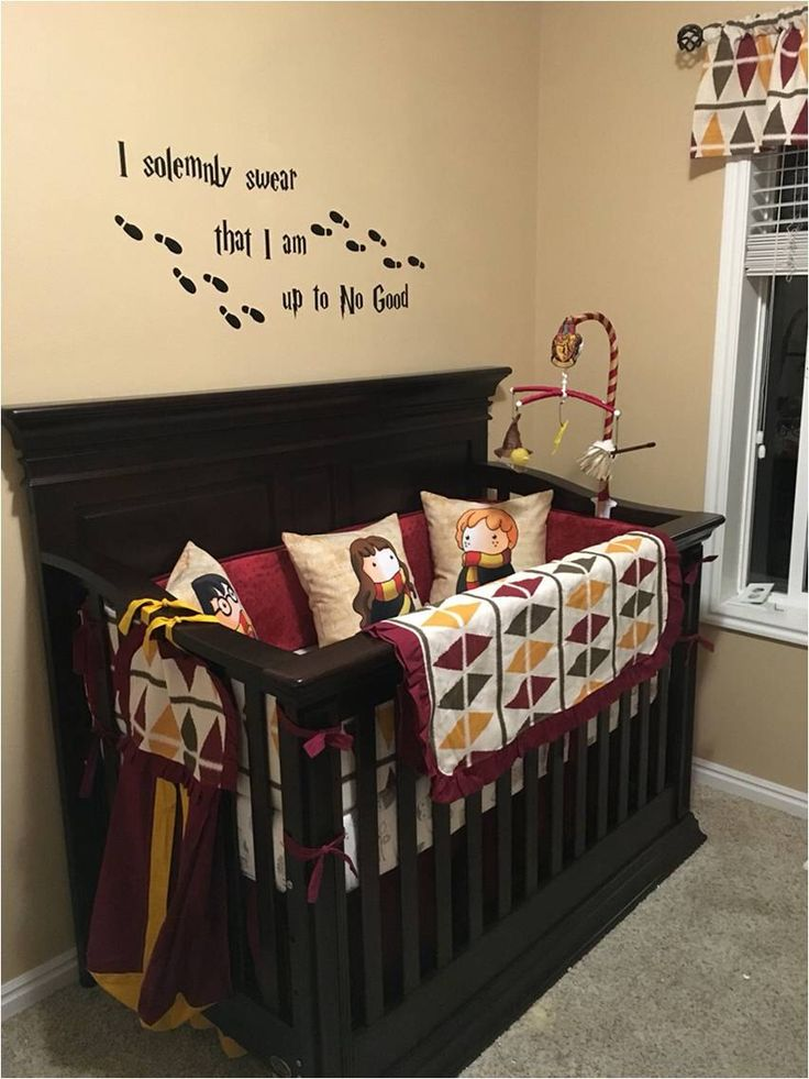 1000 ideas about baby crib bumpers on pinterest crib bumpers baby cribs and nurseries - Harry potter crib set ...