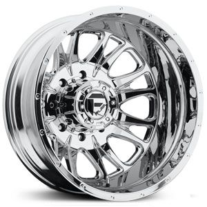 Fuel D212 Throttle Dually  Wheels Chrome (Front)