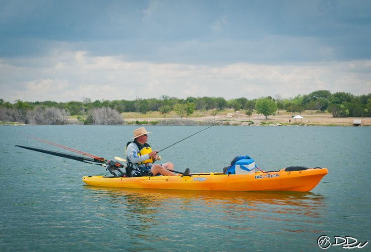 Mark palovik takes the big tuna our tandem fishing kayak for Fishing jackson kayak