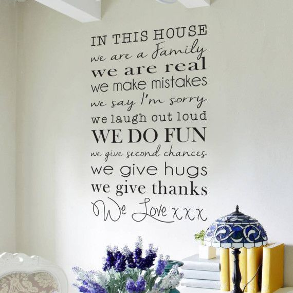 In This House Wall Sticker