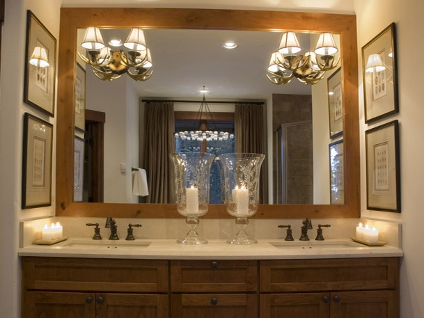 idea for framing our large mirror bathroom inspiration pinterest