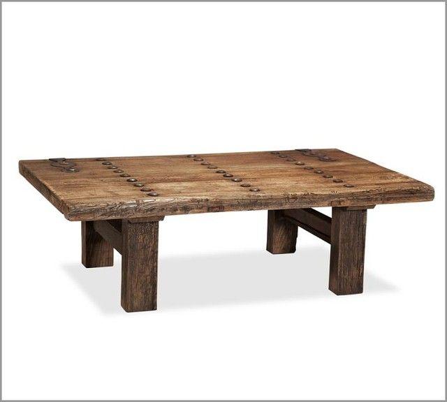 Hastings Coffee Table: Repurposed Door Coffee Table