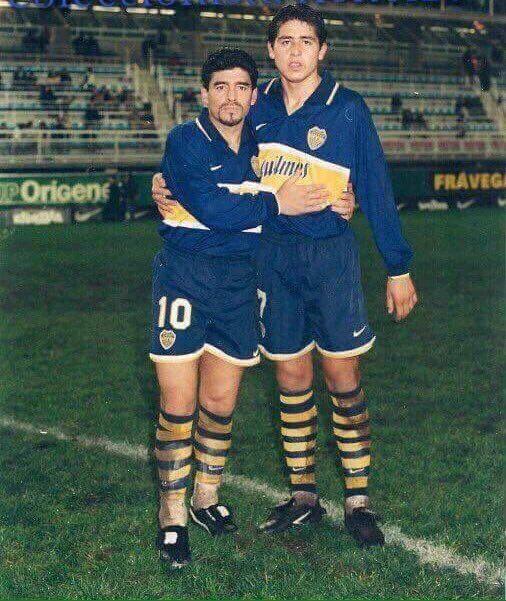 #BocaJuniors #Maradona #Riquelme