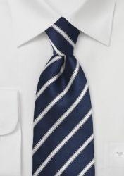 Krawatte navyblau Streifenmuster günstig kaufen
