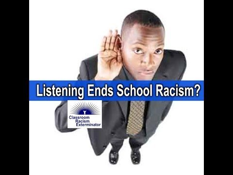 How can listening to students eliminate racism in schools? - YouTube Dr. Campbell speaks about the fallacy behind the present effort to eliminate racism in schools by empowering the public to better listen to the concerns of Black students.