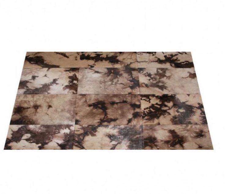 Tappeto patchwork in pelle di mucca VINTAGE CARPETS Collezione Mucca by EBRU