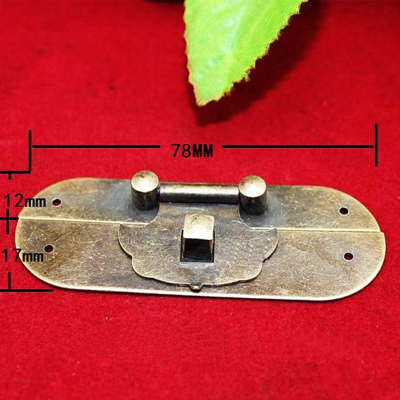 This fine copper hasp would be perfect for wine box, wooden box, wooden chest, furniture. Each equipped with enough screws.  ----Description