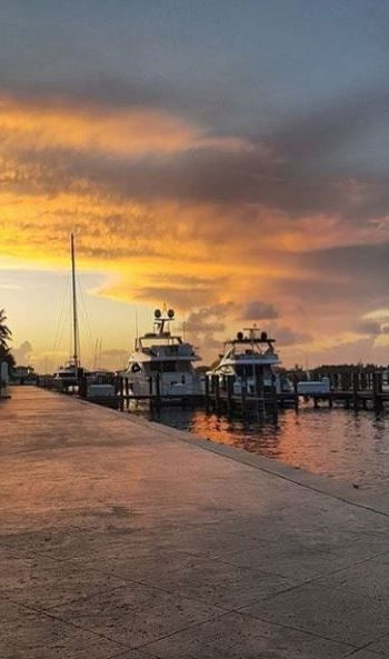 The beauty of Bahamian skies - Bay Street Marina, Nassau