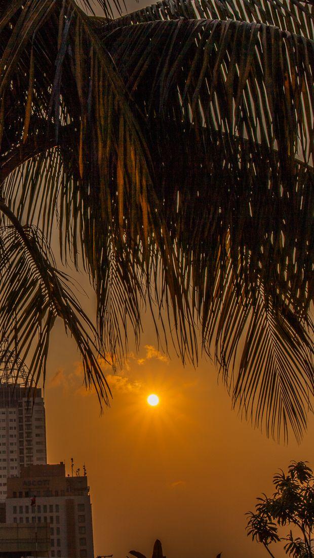 Sunset in Jakarta, Indonesia