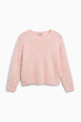 Our pink fluffy jumper is perfect for Christmas! Warm, soft, AND snuggly. What more could you want?!