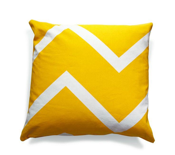 Chevron chic yellow cushion cover - hardtofind.