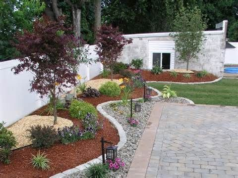 Front Lawn Design Ideas 18 creative ways how to beautify your garden with rocks No Grass Front Yard Landscaping Ideas Front Yard Mediterranean