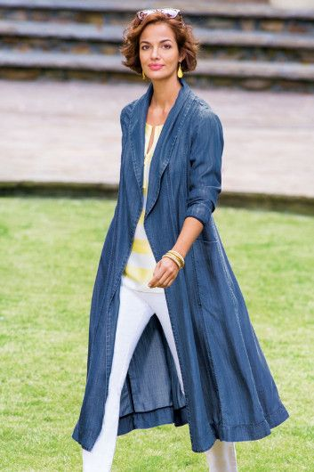 Terrific Tencel Duster - Womens Denim Duster, Denim Duster Jacket,As low as $7.95 for Standard Shipping Charge with Soft Surroundings coupons.