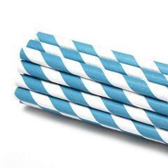 Blå papirsugerør